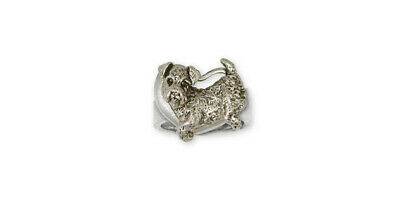 Airedale Terrier Ring Jewelry Sterling Silver Handmade Dog Ring AR2-R