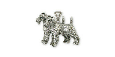 Airedale Terrier Pendant Jewelry Sterling Silver Handmade Dog Pendant AR14-P