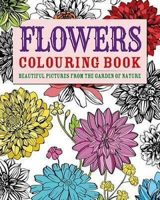 NEW Flowers Colouring Book By Arcturus Publishing Paperback Free Shipping