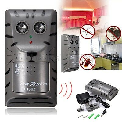 AU Pest Repeller Ultrasonic Electronic Mouse Rat Mosquito Insect Rodent Control