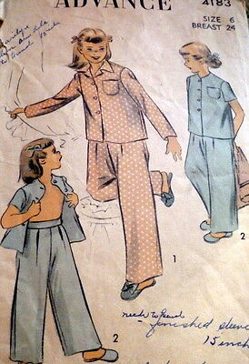 LOVELY VTG 1950S GIRLS PAJAMAS Sewing Pattern 2 -  6.99  29b62ce68