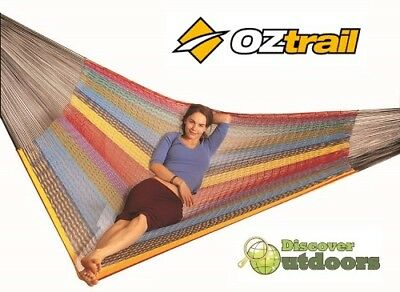 NEW OZtrail MEXICAN Queen Hammock DAY BED Chair - Great for POOL Beach Camping