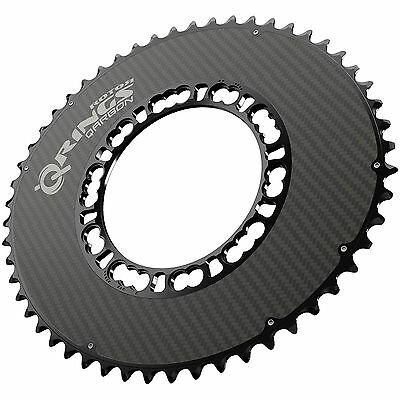 ROTOR Qarbon Q-Rings Aero 110 BCD Road Bike Cycle Outer Chainring 52T