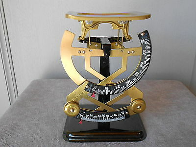 Vintage French GILDED METAL Bilateral LETTER SCALE