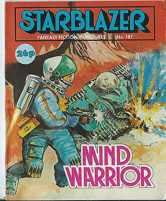 Mind Warrior,starblazer Fantasy Fiction In Pictures,comic,no.187,1987