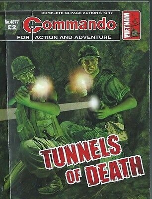 Tunnels Of Death,commando For Action And Adventure,no.4877,war Comic,2016