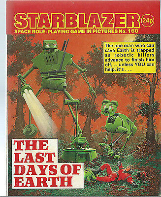 The Last Days Of Earth,starblazer Space Role-Playing Game In Picture,no.160,1986