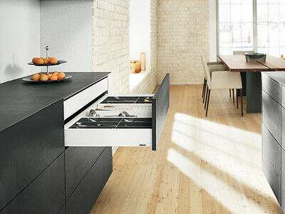 Blum LEGRABOX pure Schubkasten TIP-ON BLUMOTION Höhe M 90,5 mm