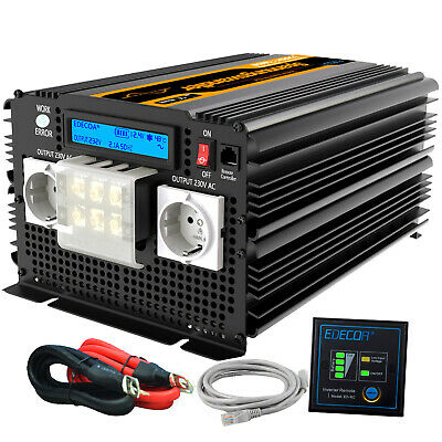 Convertitore 3500W 7000W inverter onda pura 12V 220V 230V LCD Display remote
