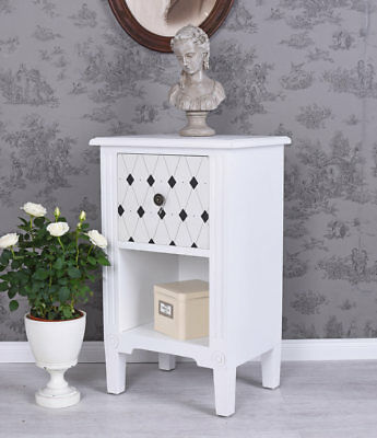 nachtschrank shabby chic nachttisch schrank weiss nachtkommode nachtkonsole eur 99 00. Black Bedroom Furniture Sets. Home Design Ideas