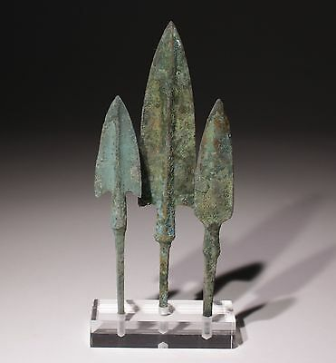 Museum Quality Bronze Age Arrowheads Luristan,persia 1200-800Bc   008