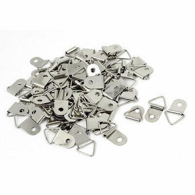 100Pcs 2.7x1.5cm Double Hole Triangle Rings Picture Frames Hanger Hooks