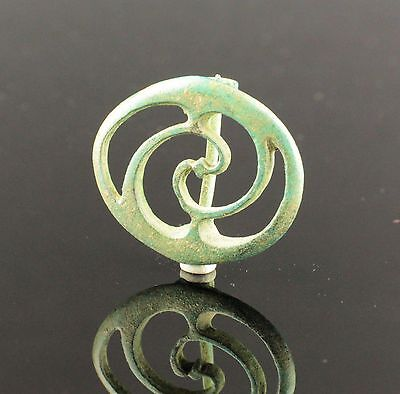 Ancient Roman Bronze Plate Brooch - Circa 2Nd Century Ad 05