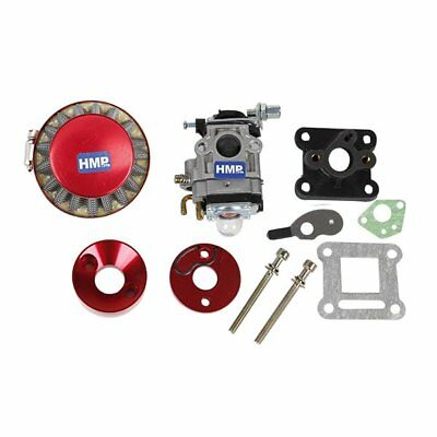 HMParts Pocket Bike Mini Cross  Tuning  Vergaser - Set 47 ccm / 49 ccm 15 mm rot