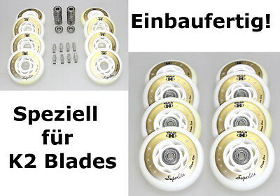4/8er HYPER SUPERLITE Rolle 82mm K2 Skates Inliner Option: montiert ABEC7+Spacer