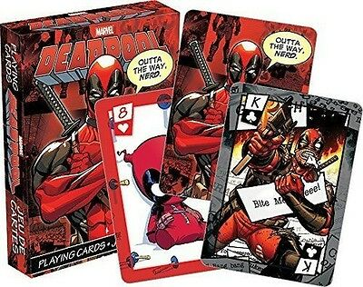 MARVEL COMICS DEADPOOL PLAYING CARD DECK 52 CARDS NEW SEALED  #smar17-06