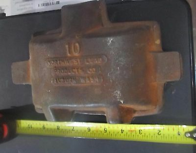 Vintage Lead Mold 10 Northwest Lead Products Co Auburn Washington Antique Rust