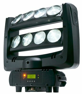 American DJ Crazy 8 x10W Wht LED Moving Head Light - New