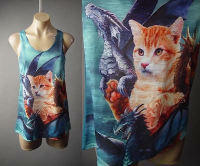 Cat Game of Thrones Mother Dragons Daenerys Graphic Tank Top 222 mv Shirt S M L