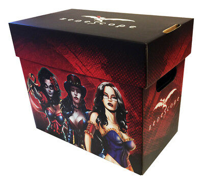 2 Two Zenescope Licensed Comic Book Storage Boxes Grimm Fairy Tales - Robyn Hood
