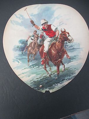 Vintage Salesman's Sample Advertising Fan with Polo Illustration