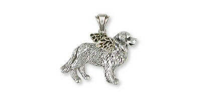 Bernese Mountain Dog Angel Pendant Jewelry Sterling Silver Handmade Dog Pendant