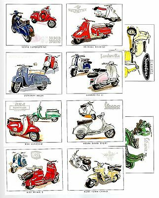 CIGARETTE/TRADE/CARDS. Golden Era. CLASSIC SCOOTERS. (2000).(Complete Set of 10)