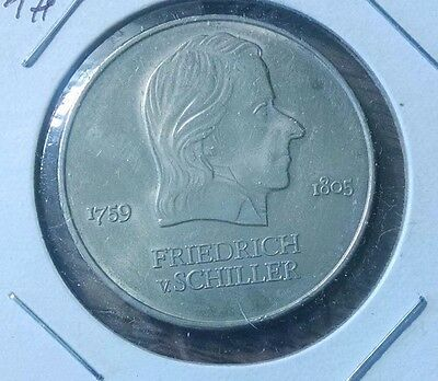 East Germany 20 Mark KM# 40     1972 1972A (Friedrich von Schiller)