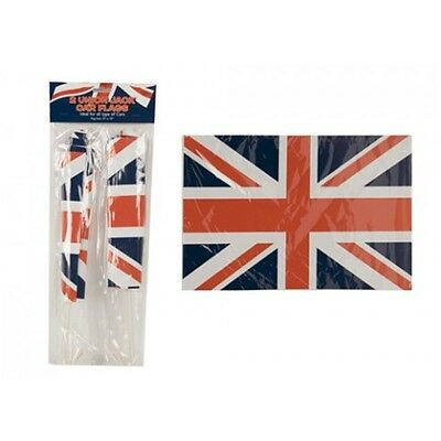 15 x 10' Union Jack Car Flags - 2 Pack Jubilee Size 10 Ideal Queens Brand New