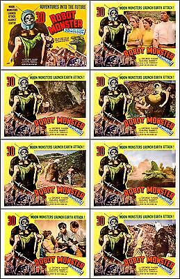 ROBOT MONSTER Complete Set Of 8 Individual 11x14 LC Prints 1953 3-D SCI-FI