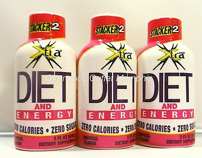 Stacker 2 Diet Energy and Crave Control Drink - Exp: 09/2019 Lot of 3