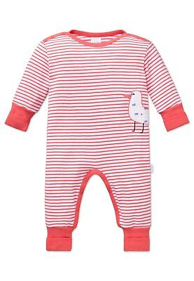 Schiesser Baby Suit with Vario Girls Seagull, Long Sleeved 56-86 - White/Coral