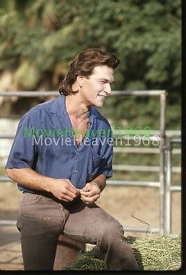 PATRICK SWAYZE YOUNG VINTAGE 35mm SLIDE TRANSPARENCY 12626  PHOTO