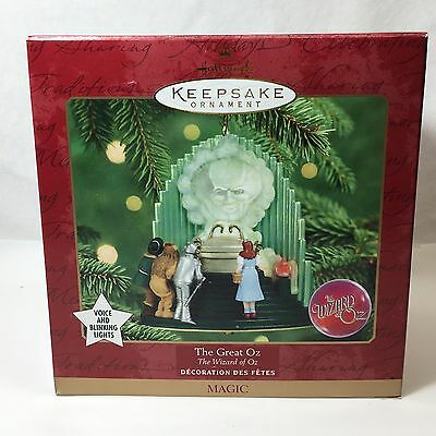 1999 Hallmark The Wizard Of Oz The Great Oz Ornament Voice & Blinking Lights