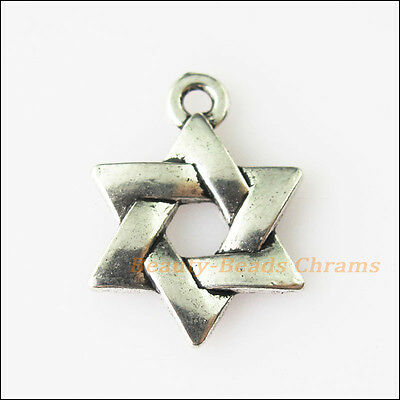 15 New Chinese Knot Star Tibetan Silver Tone Charms Pendants 12.5x17mm