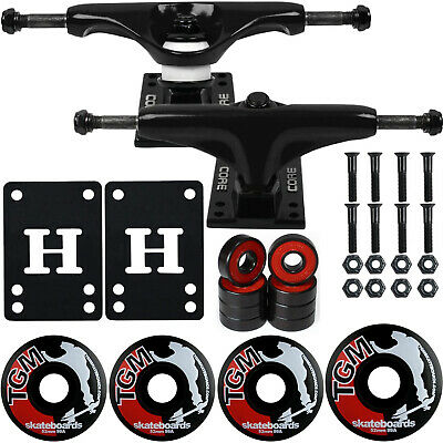 CORE Black SKATEBOARD TRUCKS, Wheels,ABEC 5 Skateboards