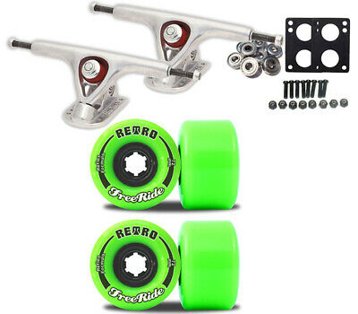 PARIS 180 TRUCKS RETRO WHEELS 72mm FREERIDE Green LONGBOARD PACKAGE