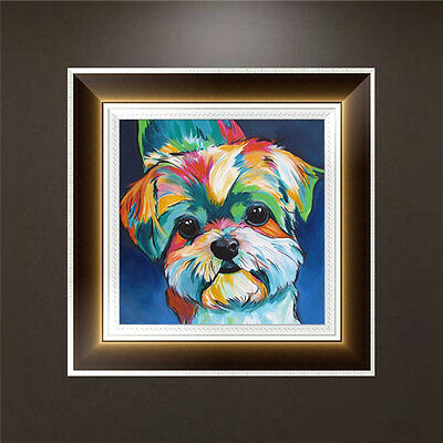 DIY 5D Diamond Embroidery Painting Little Dog Cross Stitch Craft Home Decor