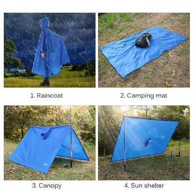 Cycling Bicycle Bike Raincoat Rain Cape Poncho Cloth Gear Rainproof Blue D6M5