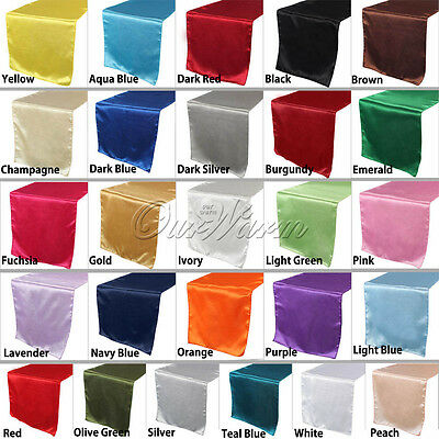 """12""""x108"""" Satin Table Runners Runner Wedding Party Reception Banquet Decoration"""