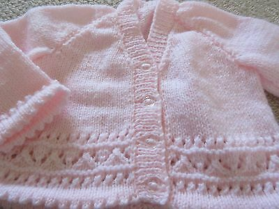 Brand New and Hand Knitted Baby Cardigan - Age 0-3 months