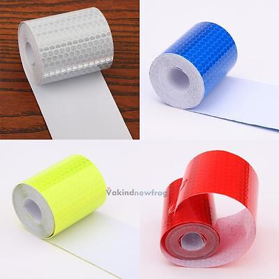 Safety Warning Reflective Conspicuity Tape Adhesive Sticker Trucks Car 5CM x 3M
