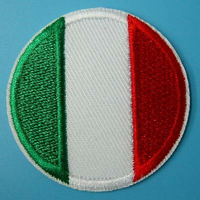 Italy Flag Italian Iron on Sew Patch Applique Badge Embroidered Biker Applique