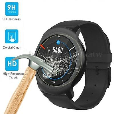 3 Pack 9H Hardness Tempered Glass Screen Protector Guard Cover For Ticwatch 2