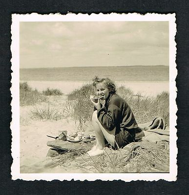 FOTO vintage PHOTO, Frau Strand Bademode sweet woman swimwear beach /119