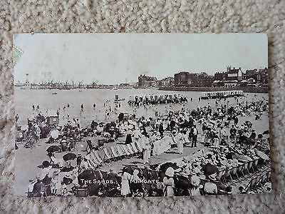 Margate, The Sands,1908 Real Photo, Vintage Postcard