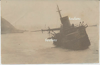 Krieg Japan/Russland Wreck of Russian cruiser Pobeda at Port Arthur 1904 (1549)