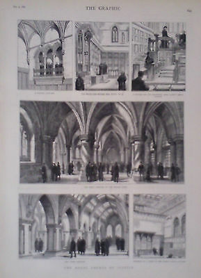 1882 Print The Royal Court Of Justice