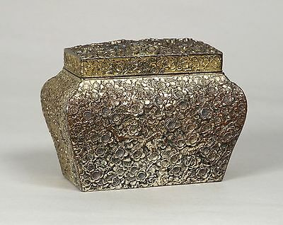 Very Attractive Antique Japanese 19Thc Metal Box Prob Tea Caddy