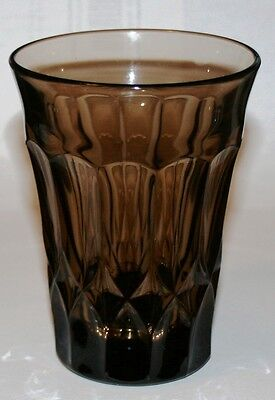Vintage Glass Tumbler Smoke Brown Noritake Perspective Weighted 6 Available